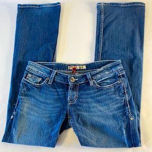 BKE Stella Denim Distressed 27x31.5 Bootcut Jeans